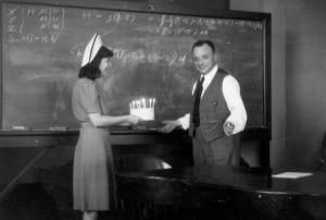 Wolfgang Pauli 45's birthday.